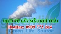 dịch vụ lấy mẫu khí thải ống khói 50 chỉ tiêu có vimcerts