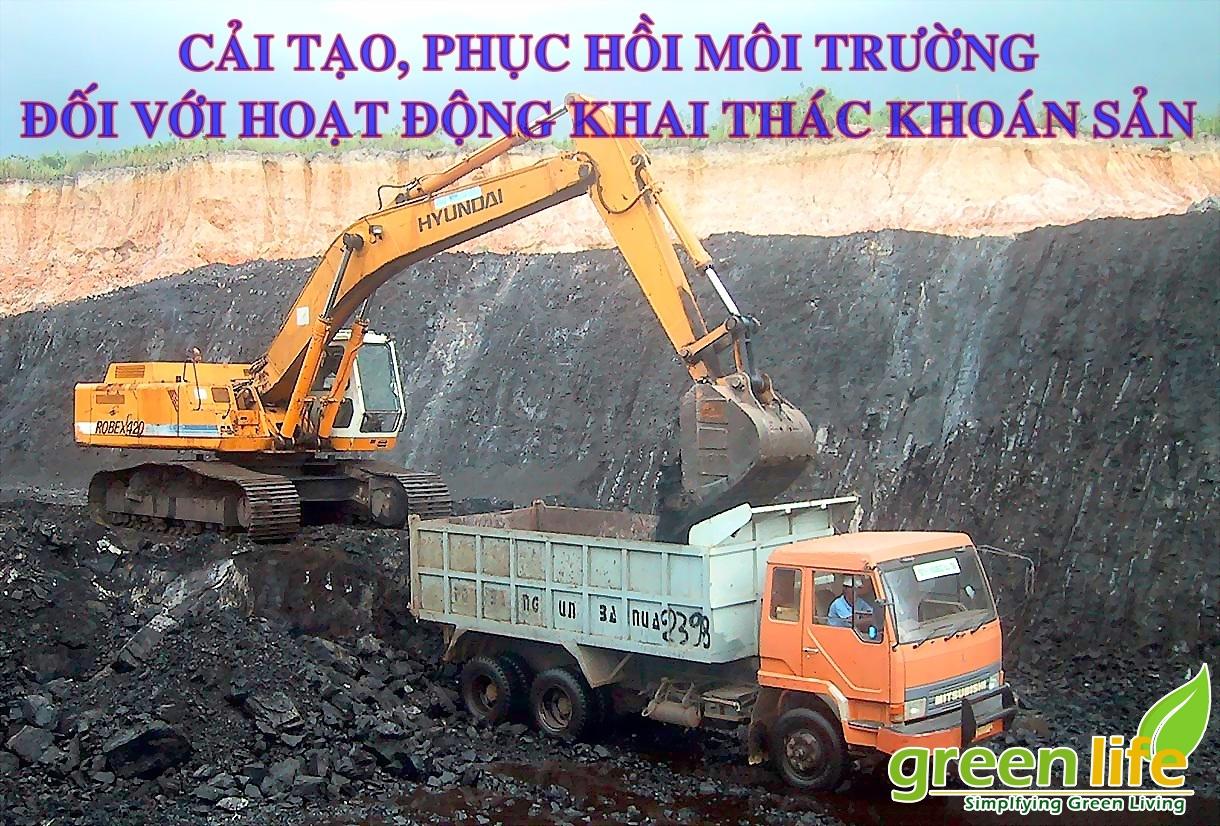 Cải tạo, phục hồi môi trường, ký quỹ cải tạo, phục hồi môi trường đối với hoạt động khai thác khoáng sản