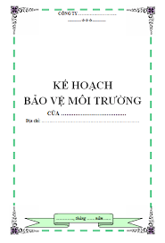 ke hoach bao ve moi truong