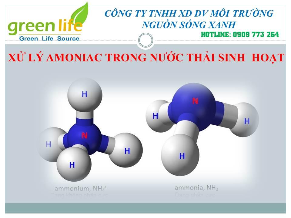 xử lý amoniac trong nước thải sinh hoạt